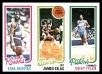 1980 Topps   -  Earl Monroe / James Silas / Terry Tyler 170 / 206 / 91 Front Thumbnail