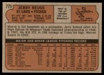 1972 Topps #775  Jerry Reuss  Back Thumbnail