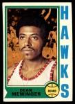 1974 Topps #23  Dean Meminger  Front Thumbnail