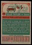 1973 Topps #262  Oliver Taylor  Back Thumbnail