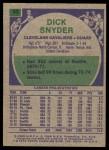 1975 Topps #83  Dick Snyder  Back Thumbnail
