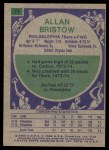 1975 Topps #74  Alan Bristow  Back Thumbnail