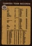 1973 Topps #556   Yankees Team Back Thumbnail