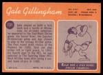 1970 Topps #131  Gale Gillingham  Back Thumbnail