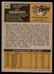 1971 Topps #147  Nick Buoniconti  Back Thumbnail
