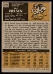 1971 Topps #220  Bill Nelsen  Back Thumbnail