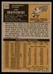 1971 Topps #111  Zeke Bratkowski  Back Thumbnail