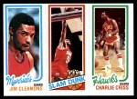 1980 Topps   -  Jim Cleamons / Robert Reid / Charlie Criss 63 / 256 / 22 Front Thumbnail