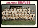 1973 Topps #521   Braves Team Front Thumbnail