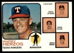 1973 Topps #549   -  Whitey Herzog / Chuck Estrada /  Chuck Hiller / Jackie Moore Rangers Leaders Front Thumbnail
