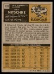 1971 Topps #133  Ray Nitschke  Back Thumbnail