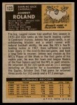 1971 Topps #123  Johnny Roland  Back Thumbnail