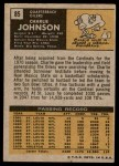 1971 Topps #85  Charlie Johnson  Back Thumbnail