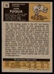 1971 Topps #76  John Fuqua  Back Thumbnail