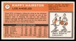 1970 Topps #77  Happy Hairston   Back Thumbnail