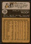 1973 Topps #598  Phil Roof  Back Thumbnail