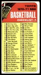 1970 Topps #24   Checklist 1 Front Thumbnail