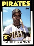 1986 Topps Traded #11 T Barry Bonds  Front Thumbnail