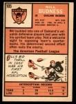 1966 Topps #105  Bill Budness  Back Thumbnail
