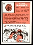 1966 Topps #16  Stew Barber  Back Thumbnail