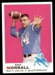1969 Topps #250  Earl Morrall  Front Thumbnail