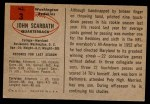 1954 Bowman #3  Jack Scarbath  Back Thumbnail