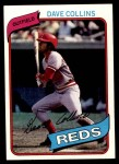 1980 Topps #73  Dave Collins  Front Thumbnail