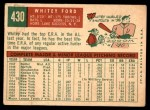 1959 Topps #430  Whitey Ford  Back Thumbnail