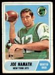 1968 Topps #65  Joe Namath  Front Thumbnail