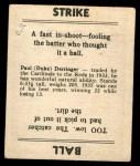 1936 Goudey #11  Paul Derringer  Back Thumbnail