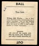 1936 Goudey #25  Bill Werber  Back Thumbnail