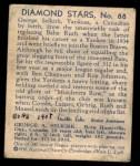 1935 Diamond Stars #88  George Selkirk   Back Thumbnail