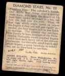 1935 Diamond Stars #22  Jimmy Wilson   Back Thumbnail