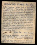 1935 Diamond Stars #95  Luke Appling   Back Thumbnail