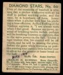 1935 Diamond Stars #60  Red Ruffing  Back Thumbnail