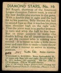 1935 Diamond Stars #76  Billy Rogell    Back Thumbnail