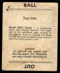 1936 Goudey #10  KiKi Cuyler      Back Thumbnail