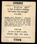 1936 Goudey #8  Joe Coscarart  Back Thumbnail