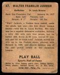 1941 Play Ball #67  Walter Judnich  Back Thumbnail