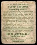 1934 Goudey #22  Floyd Vaughan  Back Thumbnail