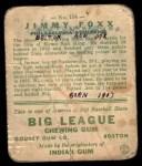 1933 Goudey #154  Jimmie Foxx  Back Thumbnail