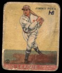 1933 Goudey #154  Jimmie Foxx  Front Thumbnail