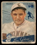 1934 Goudey #56  Mark Koenig  Front Thumbnail