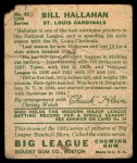 1934 Goudey #82  Bill Hallahan  Back Thumbnail