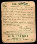 1934 Goudey #68  Bob Johnson  Back Thumbnail