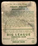 1934 Goudey #20  Frank Hogan  Back Thumbnail
