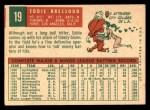 1959 Topps #19  Eddie Bressoud  Back Thumbnail
