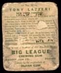 1933 Goudey #31  Tony Lazzeri  Back Thumbnail