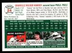 1994 Topps 1954 Archives #24  Granny Hamner  Back Thumbnail