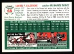 1994 Topps 1954 Archives #68  Sammy Calderone  Back Thumbnail